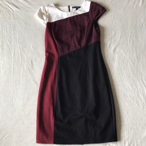 White House Black Market colorblock dress